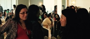 Associate Attorney Claudia Sandoval chats with San Diego USCIS Director Alanna Ow